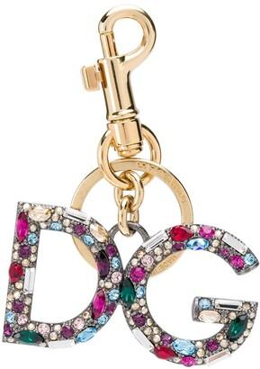 Dolce & Gabbana crystal-embellished keyring