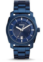Fossil Machine Three-Hand Date Blue-Tone Stainless Steel Watch
