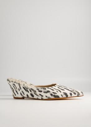 Maryam Nassir Zadeh Women's Cleo Slide in 305 Jaguar Shoes, Size 38 | Leather