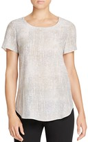 Eileen Fisher Abstract Print Silk Top