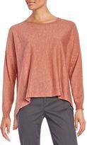 Eileen Fisher Petite Boatneck Long Sleeve Top