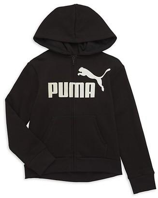 Puma Girl's No. 1 Logo Pack Zip-Front Hoodie