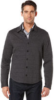 Perry Ellis Quilted Button Front Jacket