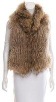 Yves Salomon Knitted Raccoon Fur Vest