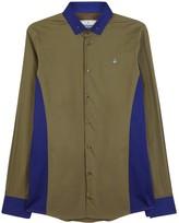 Vivienne Westwood Two-tone Stretch Cotton Poplin Shirt