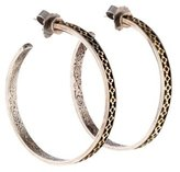 Konstantino Two-Tone Engraved Hoop Earrings