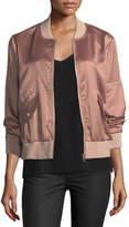 Velvet Heart Joe Satin Zip Bomber Jacket