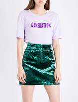 Sandro Generation open-back cotton-jersey T-shirt