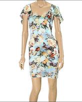 Silk Floral Print Dress