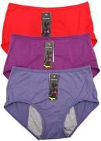 YOYI FASHION Bamboo Viscose Fiber High-Rise Brief Menstrual Leakproof Panties Multi Pack (XXL, )
