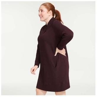 Joe Fresh Women+ Shawl Collar Dress, Burgundy (Size 2X)