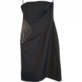 Ungaro Anthracite Wool Dress for Women