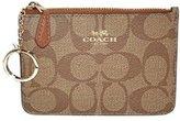 Coach Signature PVC Key Coin Pouch Wallet Case 63923