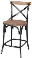 Joseph Allen Counter Stool, Rustic Iron & Reclaimed Pine Wood