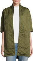 Current/Elliott Quilted Car Coat, Hunter Green