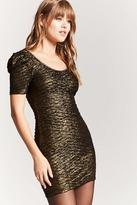 Forever 21 Metallic Knit Bodycon Dress