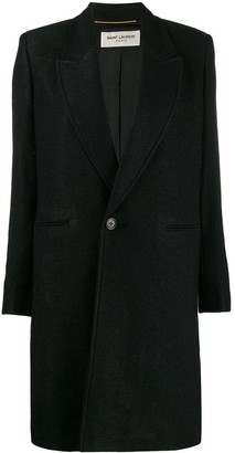 Saint Laurent Single-Breasted Coat