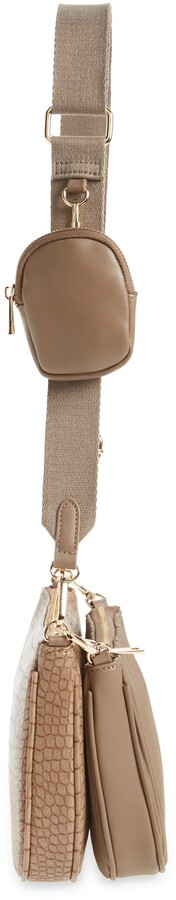 Thumbnail for your product : Street Level Faux Leather Crossbody Bag with Coin Pouch