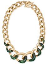 """Michael Kors 17"""" Gold-Tone Colorblocked Chain Collar Necklace"""