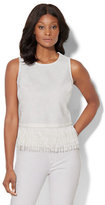 New York & Co. 7th Avenue - Fringed Peplum Top