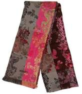 Kenzo Floral-Embroidered Wool Scarf