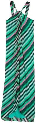 Diane von Furstenberg Lilita Striped Sleeveless Maxi Dress