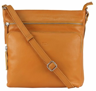 Mou Meraki Genuine Leather Crossbody Purses and Handbags - Premium Stylish Crossover Bag Over the Shoulder Women