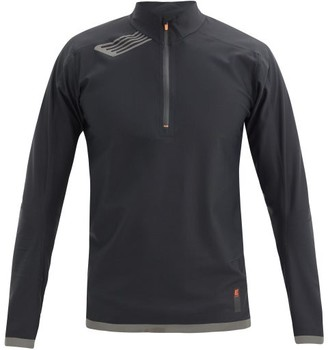 Soar - Elite Windbreaker Zip-through Running Top - Black