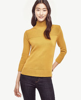 Ann Taylor Petite Ribbed Trim Sweater