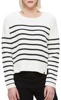 Obey Judith Crew Neck Striped Sweater