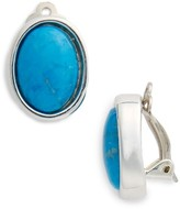 Simon Sebbag Women's Semiprecious Cabochon Clip Earrings
