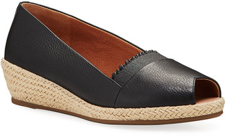 Gentle Souls Luci Ruffle Leather Espadrille Loafers