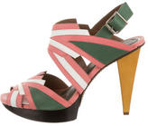 Marni Leather Platform Sandals