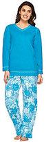 Stan Herman Petite Novelty Micro Fleece Pajama Set