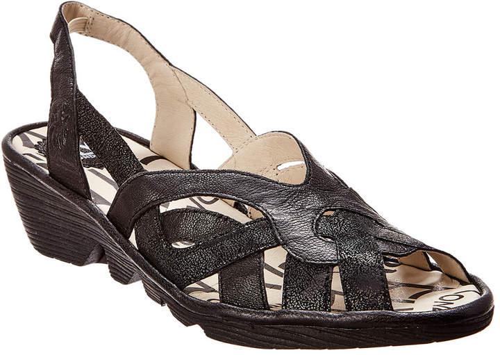 Fly London Pima Leather Wedge Sandal