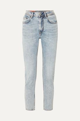 Acne Studios Melk High-rise Tapered Jeans - Light denim