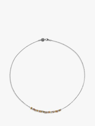 Dower & Hall Sterling Silver Nugget Nomad Row Necklace