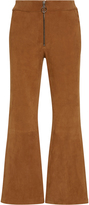 Frame Mid-Rise Suede Pants