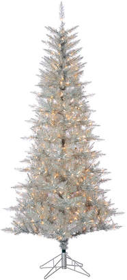Sterling Tree Company 7.5Ft Silver Tuscany Tinsel Tree
