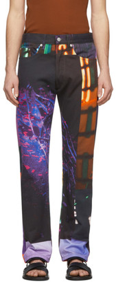 Dries Van Noten Multicolor Mika Ninagawa Edition Print Jeans