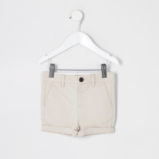River Island Mini boys stone chino shorts