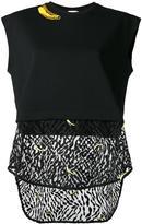 Giamba sheer panel sleeveless sweatshirt - women - Cotton - 44