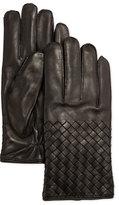 Bottega Veneta Men's Woven Leather Gloves
