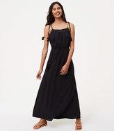 LOFT Petite Pom Pom Maxi Dress