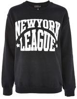 Topshop 'new york league' slogan sweatshirt