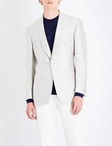 Richard James Shantung regular-fit single-breasted silk jacket