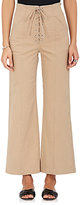 A.L.C. Women's Kyt Stretch-Cotton Twill Lace-Up Pants