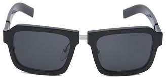 Prada Rectangular Acetate Duple Sunglasses