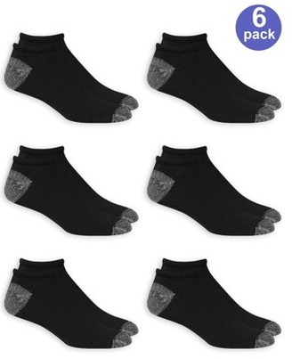 Athletic Works Men's No Show Socks 6 Pack