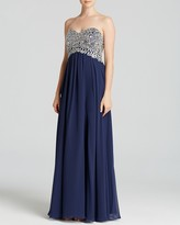 Decode 1.8 Gown - Strapless Embellished Bodice & Chiffon Skirt